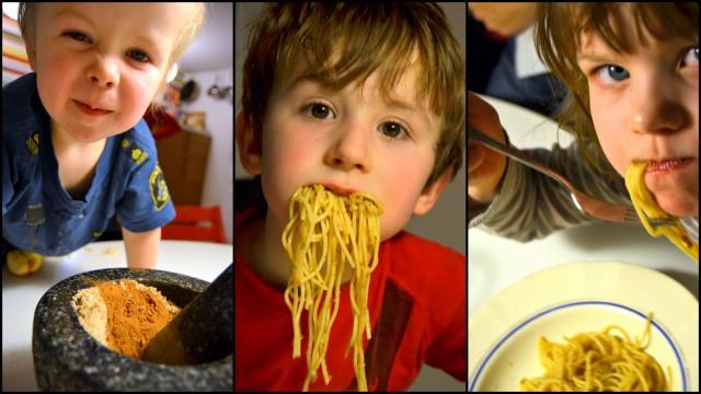 Spaghetti da quaresima fick ett svalt mottagande av matkritikerna Otto, Bruno och Saga.
