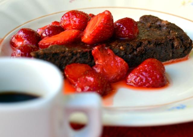 Maffig choklad och mandelkaka