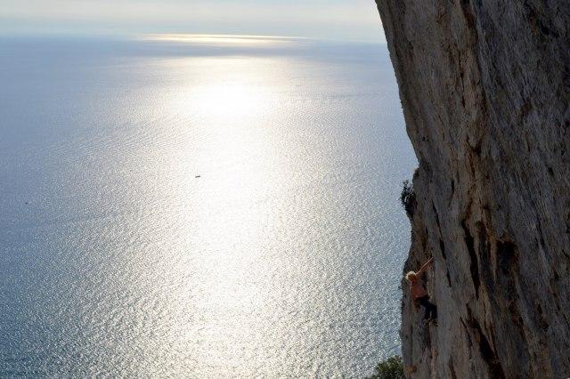 Muzzerone klättring i Cinque terre