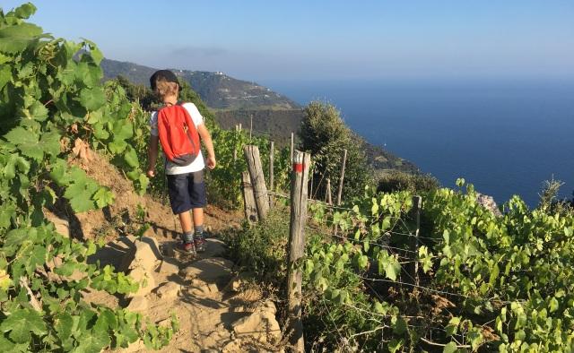 Stigen mellan Corniglia och Volastra i Cinque terre